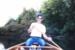 Happy in a Canoe